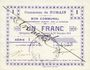 Banknotes Nomain (59). Commune. Billet. 1 franc 27.12.1914, série I