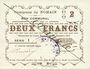 Banknotes Nomain (59). Commune. Billet. 2 francs 27.12.1914, série I