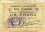 Banknotes Oignies (62). Commune. Billet. 1 franc 30.8.1914, série B