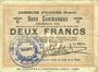 Banknotes Oignies (62). Commune. Billet. 2 francs 30.8.1914, série C