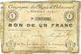 Banknotes Oignies (62). Compagnie des Mines d'Ostricourt. Billet. 1 franc