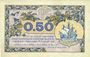 Banknotes Paris (75). Chambre de Commerce. Billet. 50 centimes 10.3.1920, série A.58
