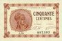 Banknotes Paris (75). Chambre de Commerce. Billet. 50 centimes 10.3.1920, série A.94