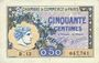 Banknotes Paris (75). Chambre de Commerce. Billet. 50 centimes 10.3.1920, série B.13