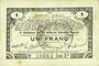 Banknotes Pas de Calais, Somme et Nord, Groupement de 70 communes. Billet. 1 franc 23.4.1915 série 2K