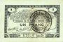 Banknotes Pas de Calais, Somme et Nord, Groupement de 70 communes. Billet. 1 franc 23.4.1915 série 2L