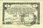 Banknotes Pas de Calais, Somme et Nord, Groupement de 70 communes. Billet. 1 franc 23.4.1915 série 2M