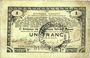 Banknotes Pas de Calais, Somme et Nord, Groupement de 70 communes. Billet. 1 franc 23.4.1915 série 2N