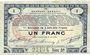 Banknotes Pas de Calais, Somme et Nord, Groupement de 70 communes. Billet. 1 franc 23.4.1915 série 3A
