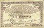 Banknotes Pas de Calais, Somme et Nord, Groupement de 70 communes. Billet. 10 centimes 23.4.1915 série 9D
