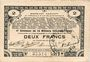 Banknotes Pas de Calais, Somme et Nord, Groupement de 70 communes. Billet. 2 francs 23.4.1915 série 3A