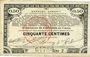 Banknotes Pas de Calais, Somme et Nord, Groupement de 70 communes. Billet. 50 centimes 23.4.1915 série 2