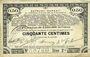Banknotes Pas de Calais, Somme et Nord, Groupement de 70 communes. Billet. 50 centimes 23.4.1915 série 2D
