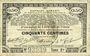 Banknotes Pas de Calais, Somme et Nord, Groupement de 70 communes. Billet. 50 centimes 23.4.1915 série 2F