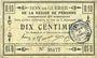 Banknotes Péronne (80). Bon de guerre de la Région de Péronne. Billet. 10 centimes 2.9.1915