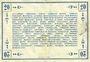 Banknotes Péronne (80). Bon de guerre de la Région de Péronne. Billet. 20 francs