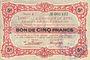 Banknotes Poix-Terron (08). Syndicat d'Emission. Billet. 5 francs, 4e émission, décembre 1917, série E