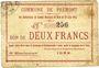 Banknotes Prémont (02). Commune. Billet. 2 francs 29.6.1915