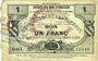 Banknotes Preux-au-Sart (59). Société des Bons d'Emission. Billet. 1 franc, 3e émission, série 4