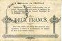 Banknotes Proville (59). Commune. Billet. 2 francs
