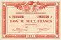 Banknotes Quimper & Brest (29). Chambres de Commerce. Billets. 2 francs 1915, série A