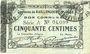 Banknotes Raillencourt-Ste-Olle (59). Commune. Billet. 50 centimes 16.12.1915, série A