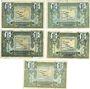 Banknotes Région Provençale (13). Billets. 1 franc, série R23, R31, R41, R44 et R11 2e tirage