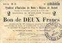 Banknotes Rethel (08). Syndicat d'Emission. Billet. 2 francs 12.7.1916, série B 3