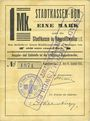Banknotes Ribeauvillé (Rappoltsweiler) (68). Ville. Billet, carton. 1 mark. Annulation à l'avers par cachet