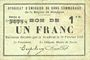 Banknotes Rimogne (08). Syndicat d'Emission. Billet. 1 franc 20.2.1916, série C