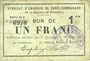 Banknotes Rimogne (08). Syndicat d'Emission. Billet. 1 franc 30.6.1916, série H 3