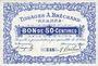 Banknotes Roanne (42). Tissages A. Bréchard. Billet. 50 centimes, n° 149