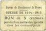 Banknotes Roncq (59). Bureau de Bienfaisance. Guerre de 1914-1915. Billet. 5 centimes
