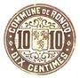 Banknotes Roncq (59). Commune. Billet. 10 centimes