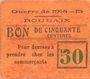 Banknotes Roubaix (59). Billet. 50 centimes, armoiries (6 mm)