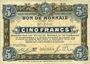Banknotes Roubaix et Tourcoing (59). Billet. 10 francs du 20.4.1916, 7e série. N° 2648