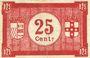 Banknotes Roubaix et Tourcoing (59). Billet. 25 centimes, série BL 14
