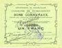 Banknotes Rumaucourt (62). Commune. Billet. 1 franc 20.12.1914, mention Annulé manuscrite