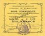 Banknotes Rumaucourt (62). Commune. Billet. 10 francs 16.8.1915, mention Annulé manuscrite