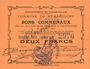 Banknotes Rumaucourt (62). Commune. Billet. 2 francs 16.8.1915, mention Annulé manuscrite