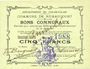 Banknotes Rumaucourt (62). Commune. Billet. 5 francs 16.8.1915, mention Annulé manuscrite