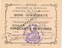 Banknotes Rumaucourt (62). Commune. Billet. 50 centimes 16.8.1915, mention Annulé manuscrite