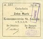 Banknotes Saint-Amarin. Konsumverein. Billet. 10 mark (22.9.1914). Signatures. : L. Vuillard et E Kühner. + Fi