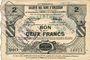 Banknotes Saint-Souplet (59). Société des Bons d'Emission. Billet. 2 francs, série 9