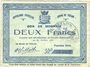 Banknotes Trélon (59). Bourg. Billet. 2 francs 22.4.1915, 1ère série