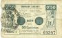 Banknotes Valenciennes (59). Emprunt Communes. Billet. 50 centimes, série 1