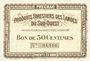 Banknotes Villandraut (33). Produits Forestiers des Landes du Sud-Ouest. Billet. 50 centimes
