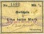 Banknotes Wesserling. Cros Roman & Cie. Billet. ½ mark. Non annulé