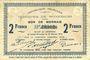 Banknotes Wignehies (59). Commune. Billet. 2 francs 21.10.1914