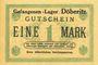 Banknotes Allemagne. Döberitz. Gefangenenlager. Billet. 1 mark n.d.